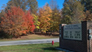 Village Sign Fall